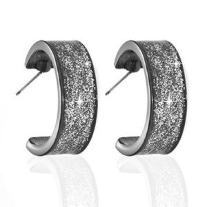 🆕Sterling Silver Gold Plate Star Dust Hoops